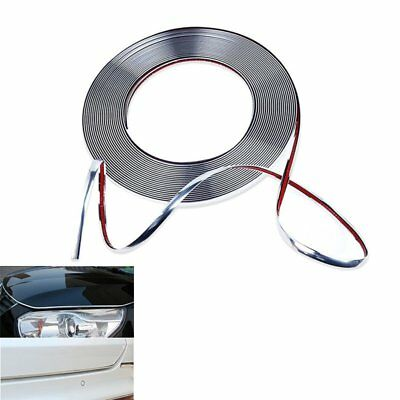 15Mx8mm Car Auto Chrome Moulding Trim Strip For Window Bumper Grille Silver【UK】