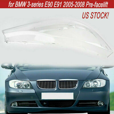 Fit for 2005-2008 BMW 3-series E90 E91 Headlight Lens Clear Shell Cover Overlays