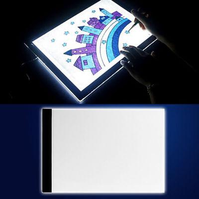 A4 USB LED Kunst Schablone Board Licht Zeichnung Pad Table Box Lichttische Neu