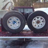 """2 16"""" aluminum wheels to fit 8 stud chevy"""