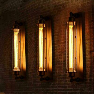 Retro Flute Vintage Industrial Wall Lamp Home Bar Atmosphere Wall Light Black Home & Garden