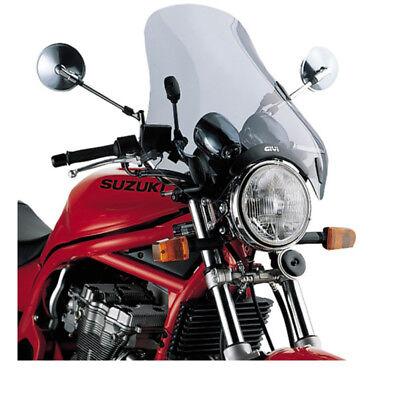 GIVI A34 UNIVERSAL 4 POINT SMOKED MOTORBIKE MOTORCYCLE SCREEN 49x50CM WINDSCREEN