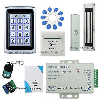 US RFID Card+ Password Door Access Control System+Magnetic Lock+Remote+ Doorbell