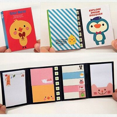 Cute Cartoon Animal Sticky Note Memo Pad Notebook Label Stationery Gift