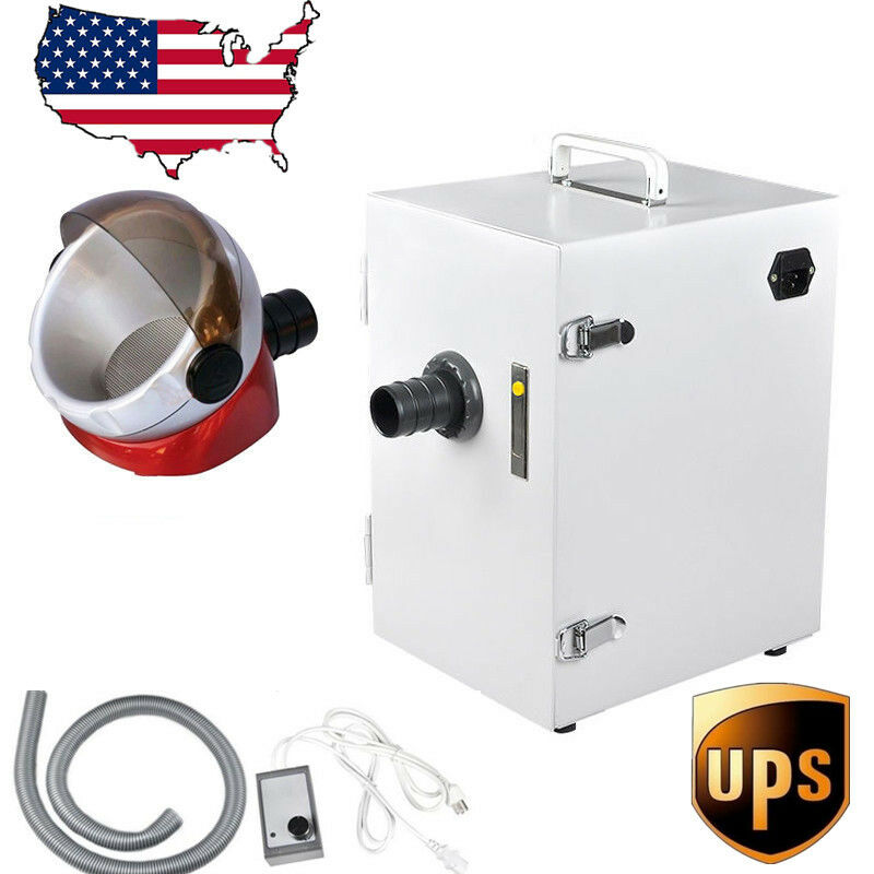 USA Dental Lab Single-Row Dust Collector Vacuum Cleaner & Desktop Suction Base