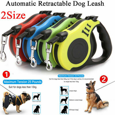 16ft Automatic Retractable Dog Leash Pet Collar Automatic Walking Lead FreeLeash (Dog Walk Leash)