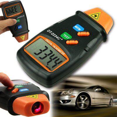Usa Digital Laser Photo Tachometer Non Contact Rpm Tach Meter Motor Speed Gauge