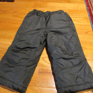 Size 2 child's pull on black snowpants