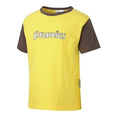 Kids OFFICIAL Brownie Short Sleeve T Shirt - All Sizes ( 100% Cotton New  ()