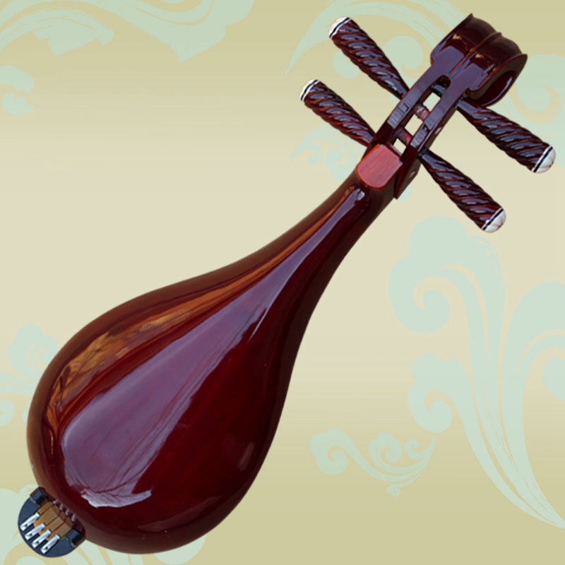 New hardwood Liuqin, Chinese Soprano Pipa Lute Guitar Musical Instrument #4032