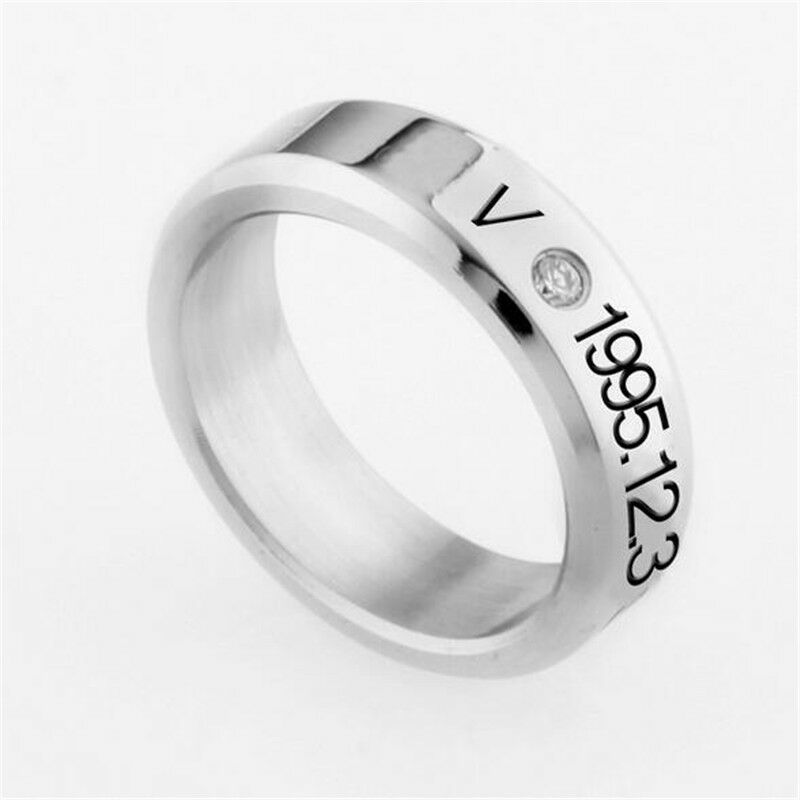 KPOP BTS Jung Kook Ring Stainless Steel Bangtan Boys Jimin Suga Rap Monster ARMY