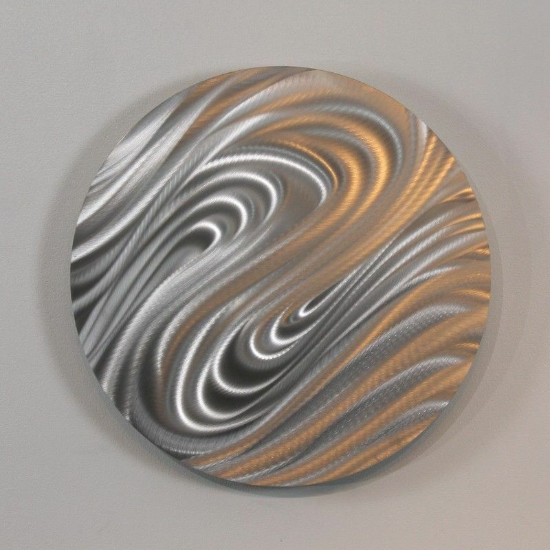 Contemporary abstract silver metal wall art home decor for Silver wall art