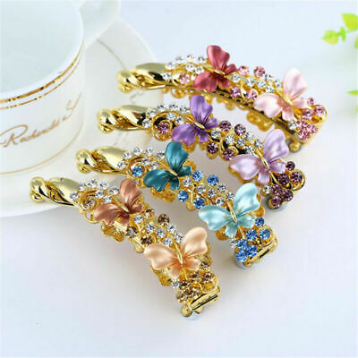 Fashion Banana Hair Clip Claw Holder Butterfly Resin Hairpin Ponytail Women Gift