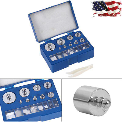 17pcs 211.1g 10mg-100g Grams Precision Calibration Weight Set Test Jewelry Scale
