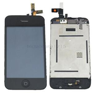 NEW Black LCD Display Glass Digitizer Touch Screen Full Assembly for iPhone 3G