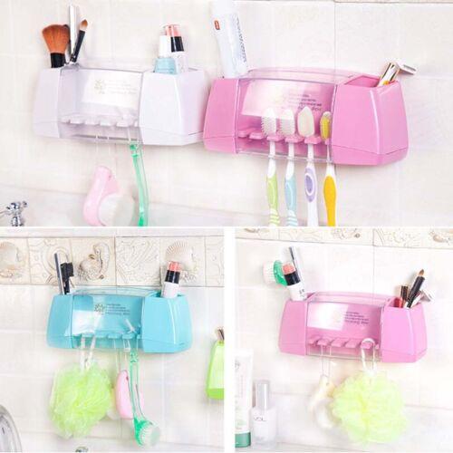 5er Zahnbürstenhalter Zahnbürste Wand Halter Saugnapf mit Schutzkappe Neu Set DE