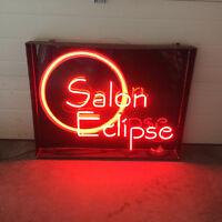 "Neon sign ""salon eclipse"" 3 foot x 4 foot."
