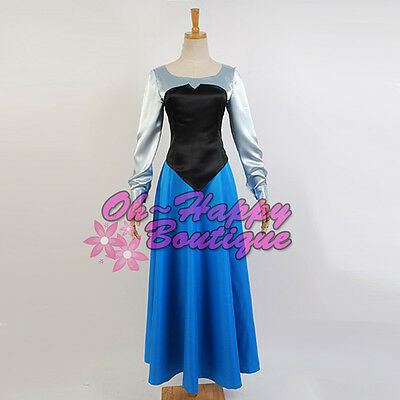 The Little Mermaid Princess Ariel dress blue Adult girl cosplay costume - Ariel Blue Dress Cosplay