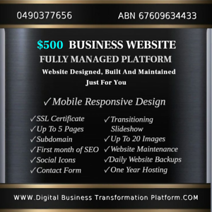 $500 - FULLY MANAGED WEBSITE PACKAGES ⭐   ⭐   ⭐    ⭐   ⭐