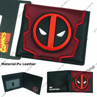 Deadpool Wallet Short Bifold Purse Marvel Comics High Quality 3D LOGO Gift New