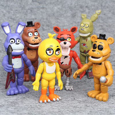 6Pcs Five Nights At Freddys Fnaf Game Action Figures Doll Kid Children