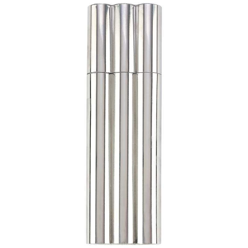 New 2 oz Flask / 2 No Crush Cigar Tubes Stainless Steel Travel Carry Case Holder