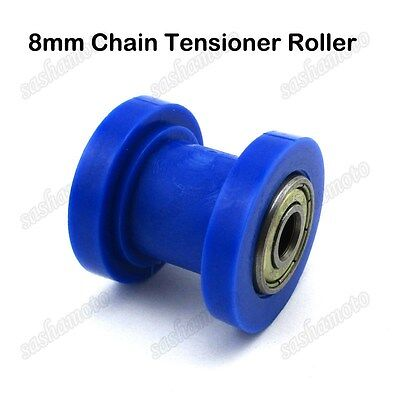 8mm Blue Chain Roller Pulley Tensioner For CRF50 SSR Thumpstar Pit Dirt Bike ATV