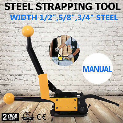 A333 Manual Steel Strapping Tool No Buckle 12-34 Pallets Box 850n Tension