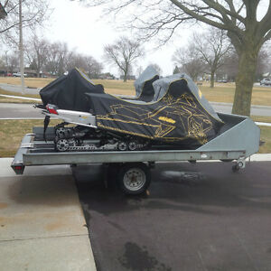 Double Galvanized Snowmobile Trailer NEW TIRES!!