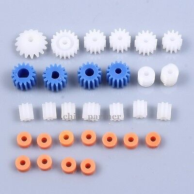 26pcs Plastic Spindle Gear Worm For Aircraft Car Truck Model Robotic Motor Shaft