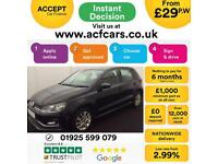 2015 BLACK VW POLO 1.2 TSI 90 SE DSG PETROL 5DR HATCH CAR FINANCE FR £29 PW