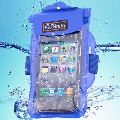 Small Waterproof Cell Phone - Bingo Waterproof Small Pouch PVC Dry Bag Underwater for Cell Phone blue wp06-02