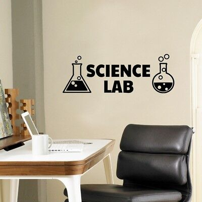 Science Lab Vinyl Wall Decals Chemistry Sticker For Science Classroom Decor - Decorate A Classroom