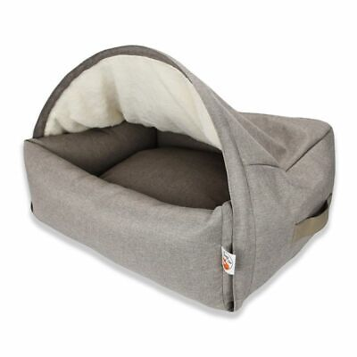 Dog Bed Cuddly Den Cave Air Slits For Good Air Circulation Removable -