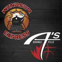 Windsor Express vs. Orangeville A's
