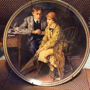 "Norman Rockwell collectors plates ""Rediscovered Women"""