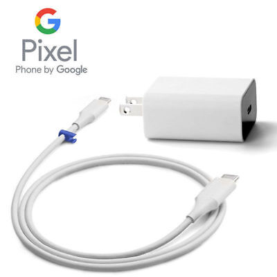Genuine Google Wall Charger for Pixel, XL, Pixel 2, XL with Charger Cable