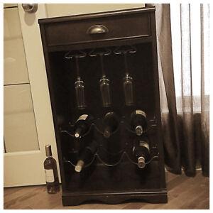 Wine Rack w/ Drawer
