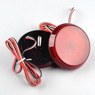 2× LED Rear Bumper Round Reflector Red Brake Stop Light NISSAN QASHQAI 2007-2015