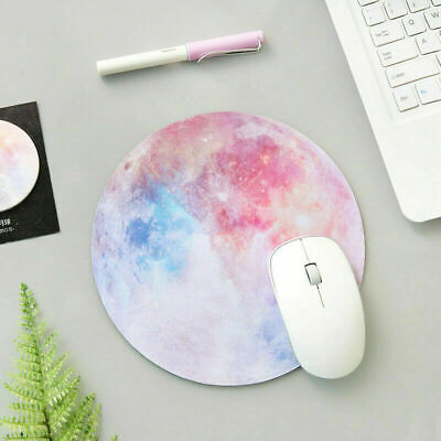 Non Slip Round Mouse Pad Mice Mat For Laptop Notebook Computer PC Purple Nebula Notebook Mouse Pad Mat