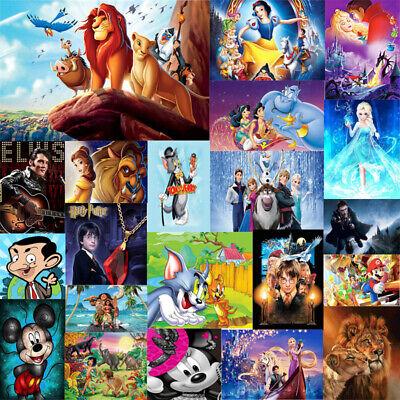 Cartoon Disney Full 5D Drill Diamond Painting Embroidery Cross Craft Arts Decor