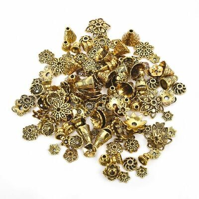 Vintage Alloy Flower Bead Cap Spacer End Bead Tail Jewelry Making Findings