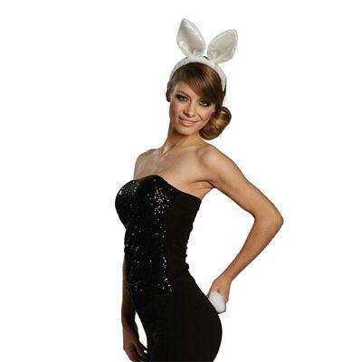Mola 63255 Bunny Set Hase Kaninchen Häschen Karneval Kostüm Zubehör Damen weiß