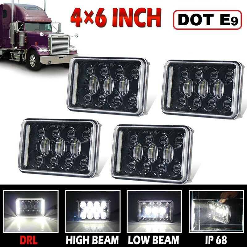 For Freightliner Classic FLD120 FLD112 4x6/'/' LED Headlight DRL High/&Low Beam 4X