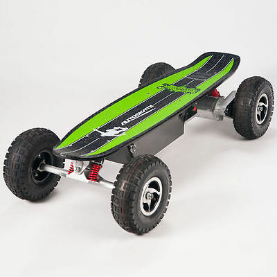 The electric skateboard even charges when you brake