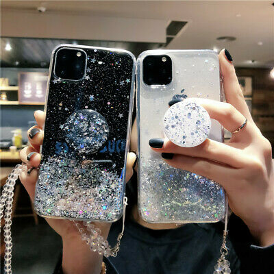 Glitter Sparkle Bling Phone Holder Case Cover for iPhone 11 Pro XS Max XR 6 7 8