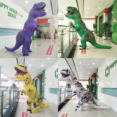 NEW Inflatable T-Rex Dinosaur Costume Adult Kids Fancy Dress Blow Up Suit Outfit](Inflatable Dinosaur Suit)