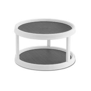 Non-Skid 2-Tier Pantry Cabinet Lazy Susan Turntable, 12-Inch
