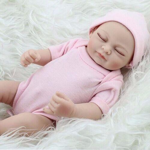 Купить US 11 Handmade Newborn Baby Girl Vinyl Soft Silicone Realistic Reborn Doll Real