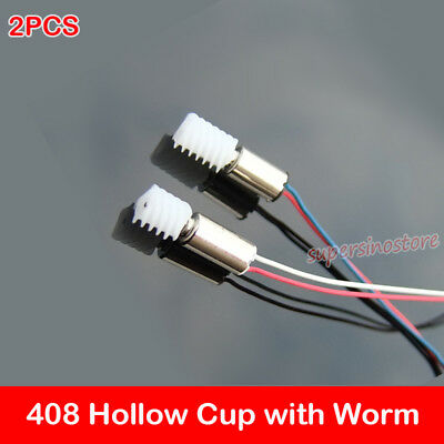 2pcs Micro Mini 4mm8mm Coreless Motor Dc 3.7v With Worm Gear Motor Diy Toy Car